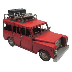 Macheta masina retro metal rosie 26*13*15 cm