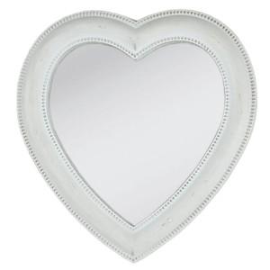 Oglinda decorativa de perete polirasina alba Cuore 27*3*28 cm