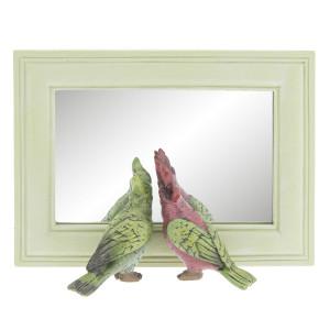 Oglinda decorativa perete polirasina Papagali 21x7x15 cm