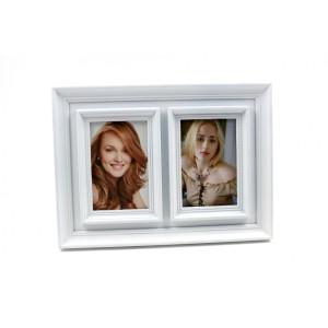 Rama foto de masa plastic alb 35 x 26 cm
