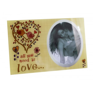 Rama foto de masa sticla All you need is love  30 cm x 20 cm