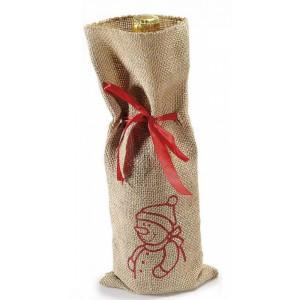 Husa pentru sticla de vin material textil 30 cm