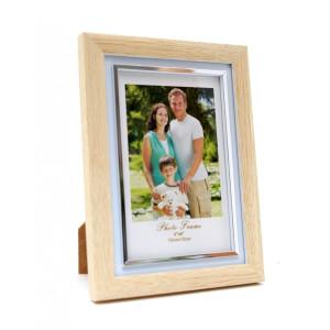 Rama foto de masa lemn natur  20 cm x 14 cm