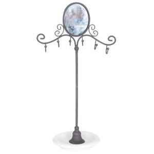 Suport bijuterii cu oglinda Elegance 27 cm x 12 cm x 37 cm