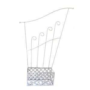 Jardiniera harpa fier forjat 40cm x21 cm x 120 cm