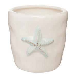 Pahar ceramica crem periute dinti Marin Ø 8x8 cm