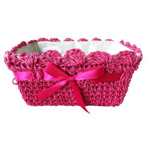 Cos decorativ roz 22 cm x 14 cm x 11 cm