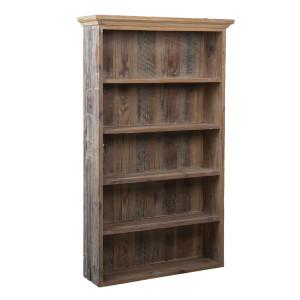 Biblioteca cu 5 rafturi din lemn maro 61 cm x 16 cm x 99 h
