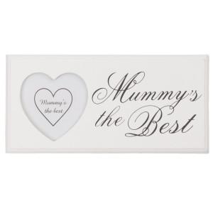 Rama foto de perete lemn alb Mummy's the Best 24 cm x 12 cm