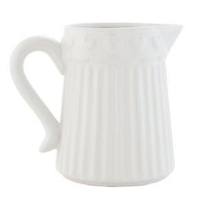 Latiera ceramica alba Hearts 13 x 9 x 11 cm / 0,3 L