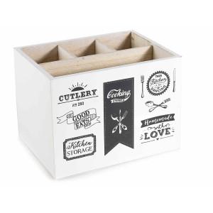 Cutie depozitare ustensile pentru bucatarie  cm 17 x 13 x 13 H