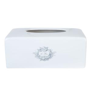Suport pentru cutie servetele ceramica alb negru Angel 24 cm x 14 cm x 9 cm
