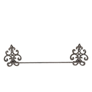 Suport fier forjat maro pentru prosoape 58x6x15 cm
