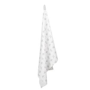 Prosop de bucatarie din bumbac alb gri 70 cm x 50 cm