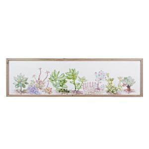 Tablou decorativ cu plante suculente 120x2x34h