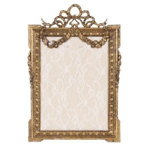 Decoratiune suspendabila pentru perete metal auriu Memo Board Baroc 16*24 cm