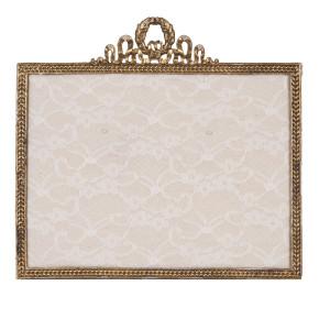 Decoratiune suspendabila pentru perete metal auriu Memo Board Baroc 25*23 cm