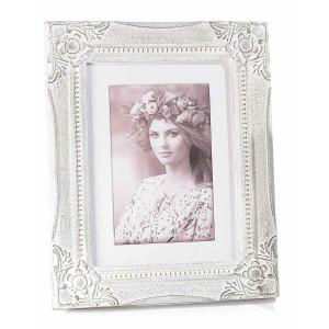 Rama foto de masa lemn alb antichizat cm 20 x 25 H