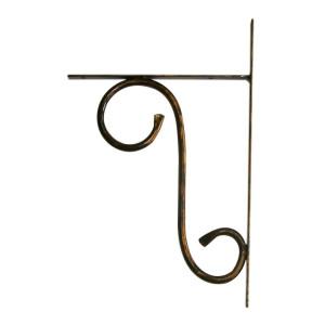 Suport polita fier forjat negru patina aramie 20 cm x 35H