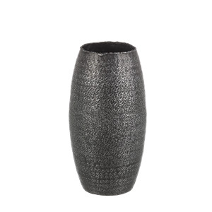 Vaza decorativa pentru flori metal gri 15x31h