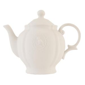 Veioza decorativa ceramica alba model Ceainic 28x11x23 cm E27