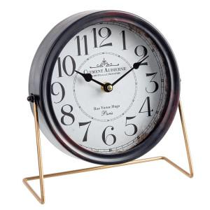Ceas de masa metal negru Clement 25 cm x 22 h