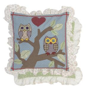 Fata de perna bumbac Owl 40 cm x 40 cm