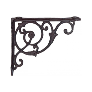 Suport pentru polita fier forjat maro 22 cm x 3 cm x 18 cm
