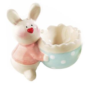 Suport ou ceramic Bunny Pink