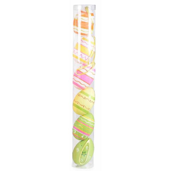 Set 6 oua decorative plastic suspendabile multicolor