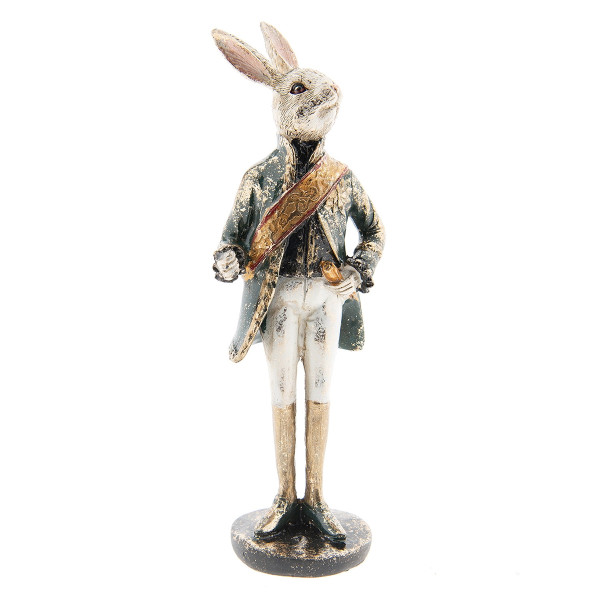 Figurina Iepuras Paste polirasina 7 cm x 7 cm x 23 cm