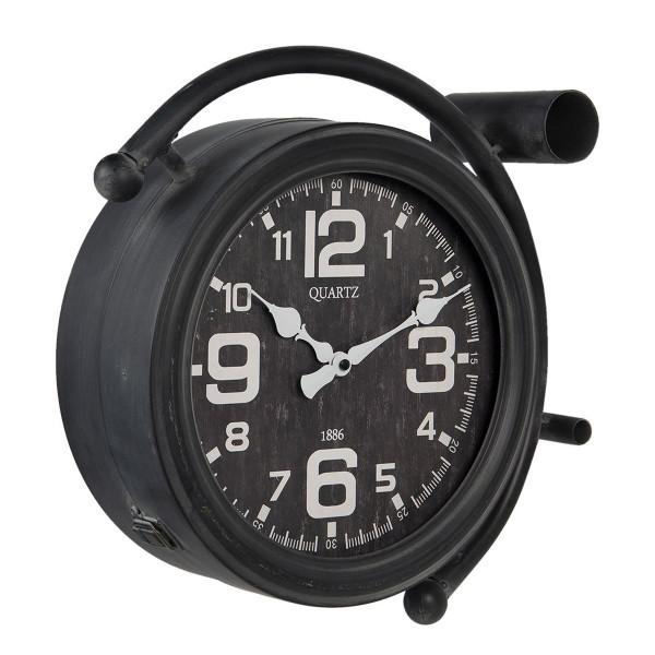 Ceas de perete din metal negru 34 cm x 12 cm x 34 h