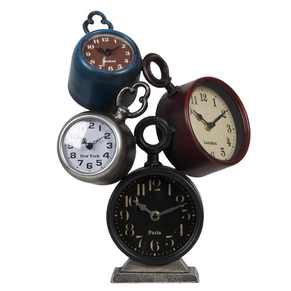 Ceasuri de masa din metal 26 cm x 19 cm x 36 h