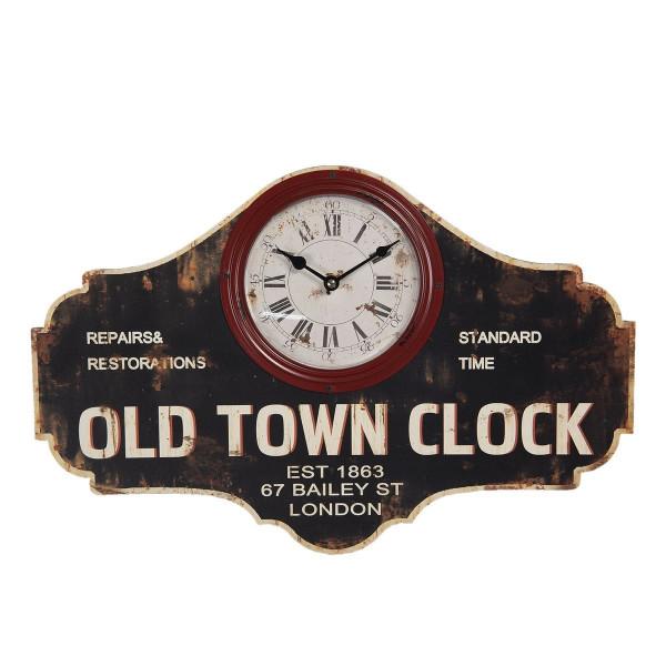 Ceas de perete din lemn antichizat 50 cm x 3 cm x 33 h