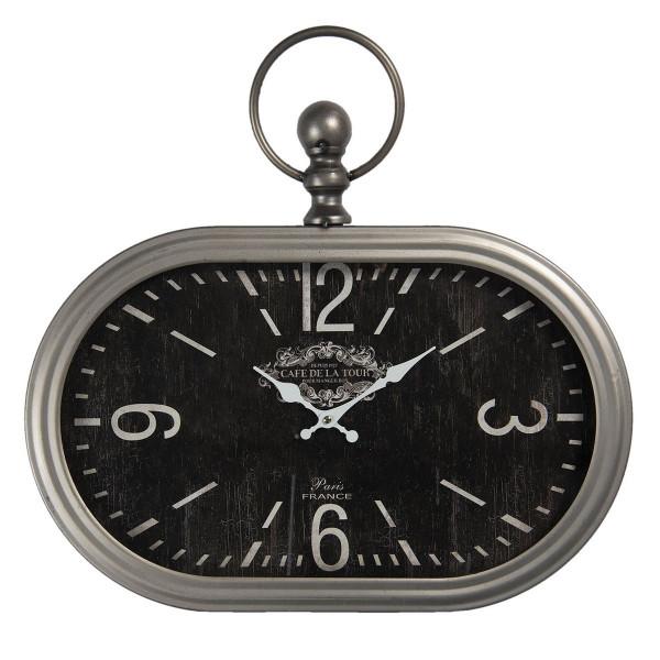 Ceas de perete din metal gri 50 cm x 3 cm x 44 h