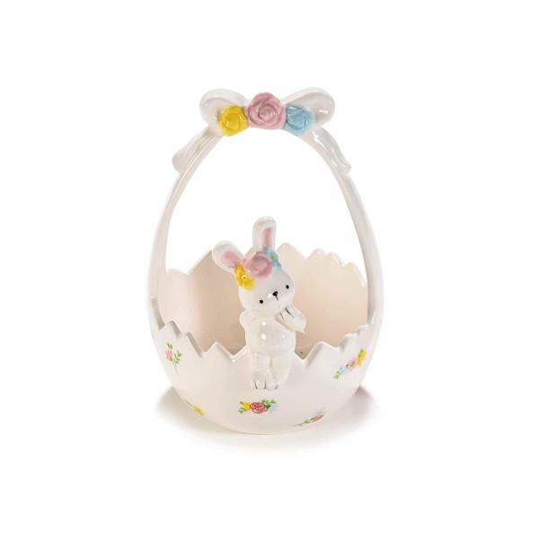 Cos Paste ceramica alb model Iepuras cm 12 x 14 x 13 H