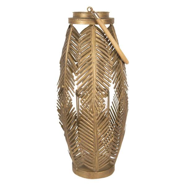 Felinar suspendabil din metal auriu Ø 25 cm x 75 h