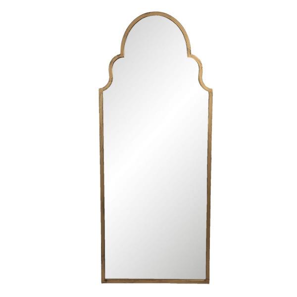 Oglinda de perete cu rama din fier auriu patinat 61 cm x 3 cm x 150 h