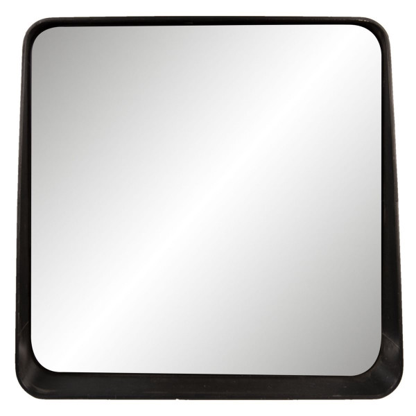 Oglinda de perete cu rama din sticla neagra 53 cm x 10 cm x 51 cm