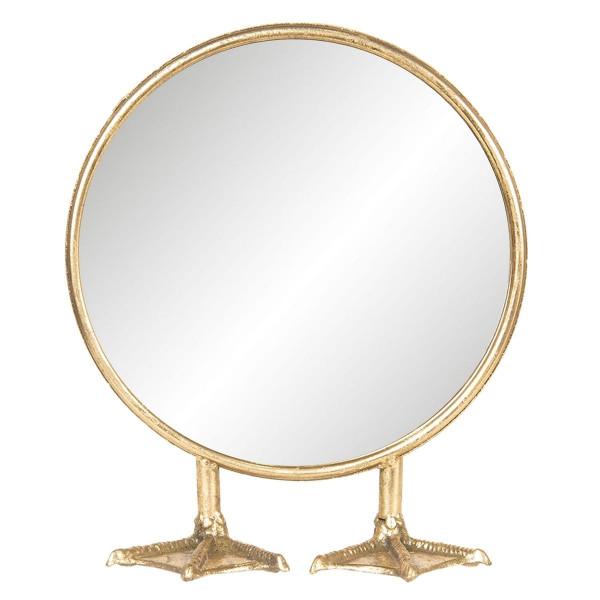 Oglinda de masa cu rama din metal auriu 25 cm x 9 cm x 30 h
