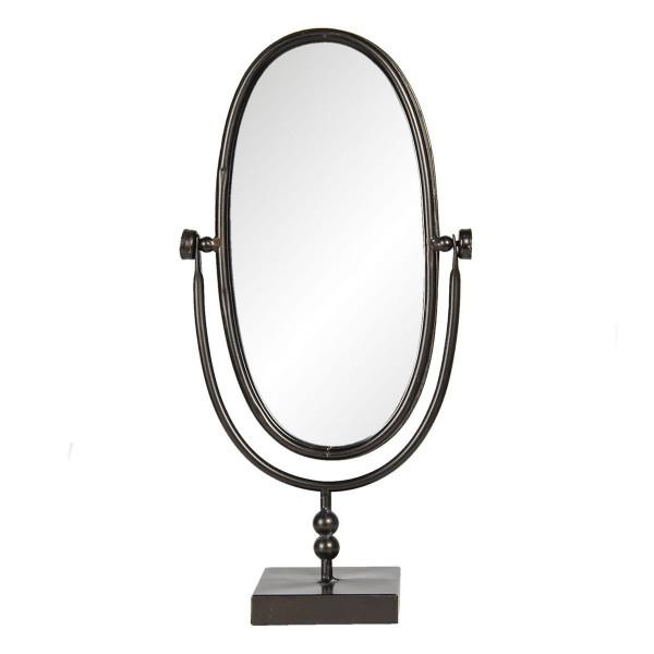 Oglinda de masa cu rama din metal negru 21 cm x 10 cm x 40 h