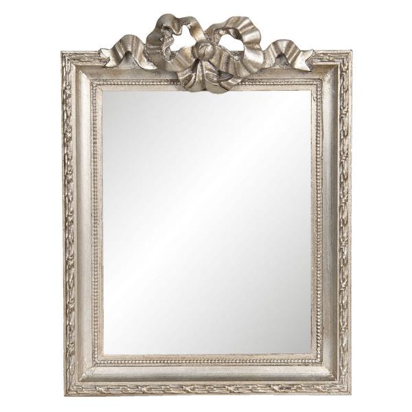Oglinda de perete cu rama din lemn argintiu 25 cm x 2 cm x 34 h