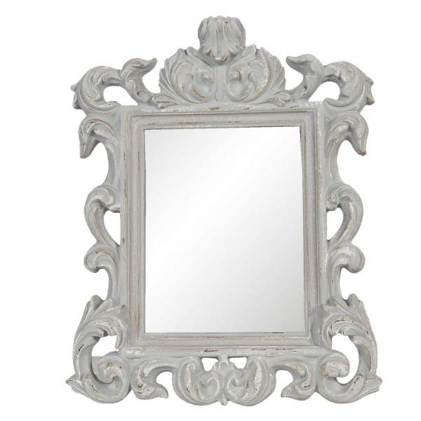Oglinda de perete cu rama din polirasina gri antichizat 34 cm x 4 cm x 43 h