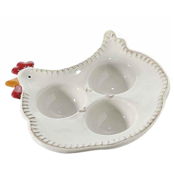 Platou Paste oua model ceramica gri Gaina cm 15 cm x 16 cm