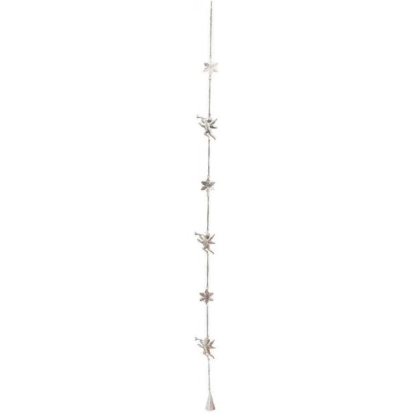 Ornament brad metal argintiu 100 cm