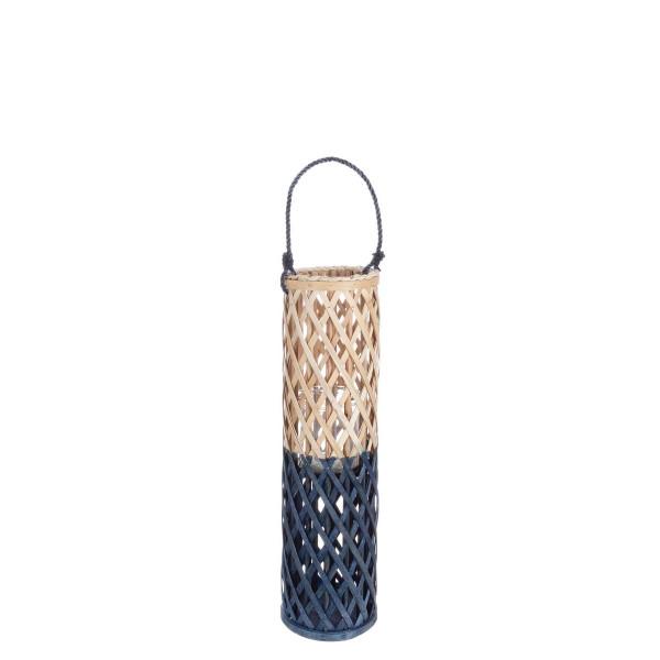 Felinar suspendabil bambus natur bleumarin Layla...
