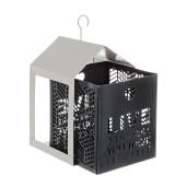 Set 2 felinare suspendabile din metal alb negru Armonia 11 cm x 11 cm x 20 h; 15 cm x 15 cm x 26 h