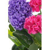 Dalia roz artificiala in ghiveci 10,5 cm x 10,5 cm x 24h