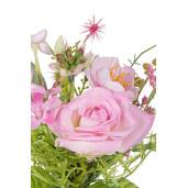 Crenguta trandafir artificial roz  28 cm