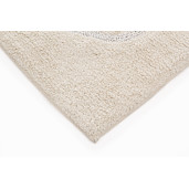 Covoras baie textil crem Cuore 50 cm x 80 h
